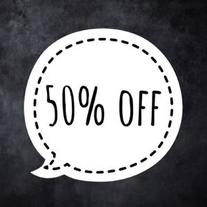 50% off two of more items!!!🎉🎉🎉